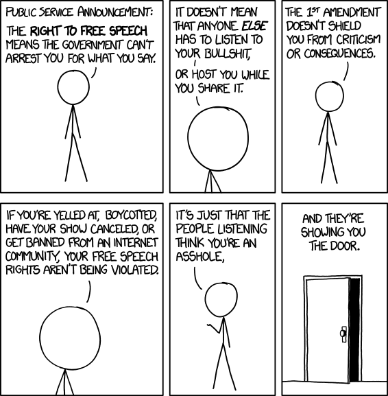 Free Speech cartoon by xkcd